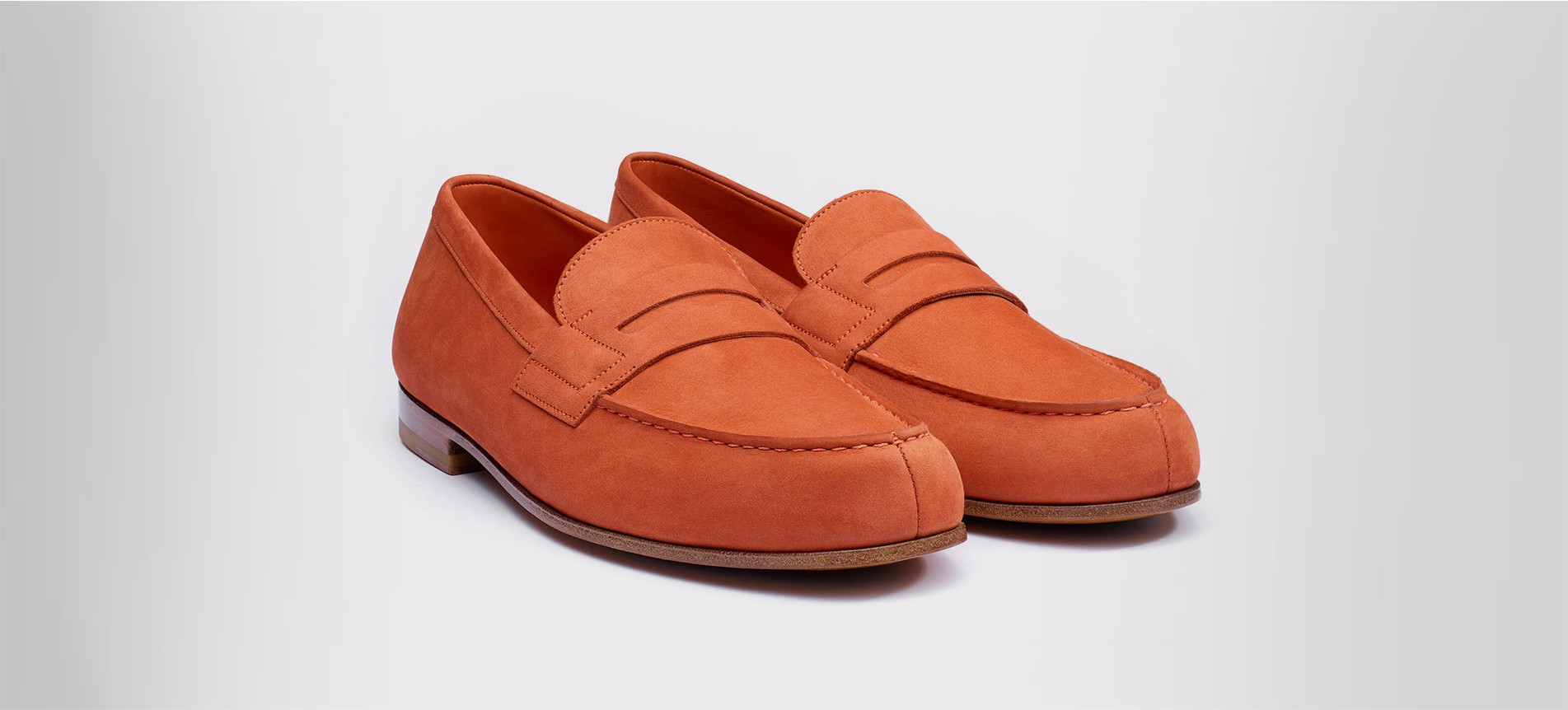 super mignon 1fa77 55421 Le Moc' Nubuck orange - Mocassins J.M. Weston