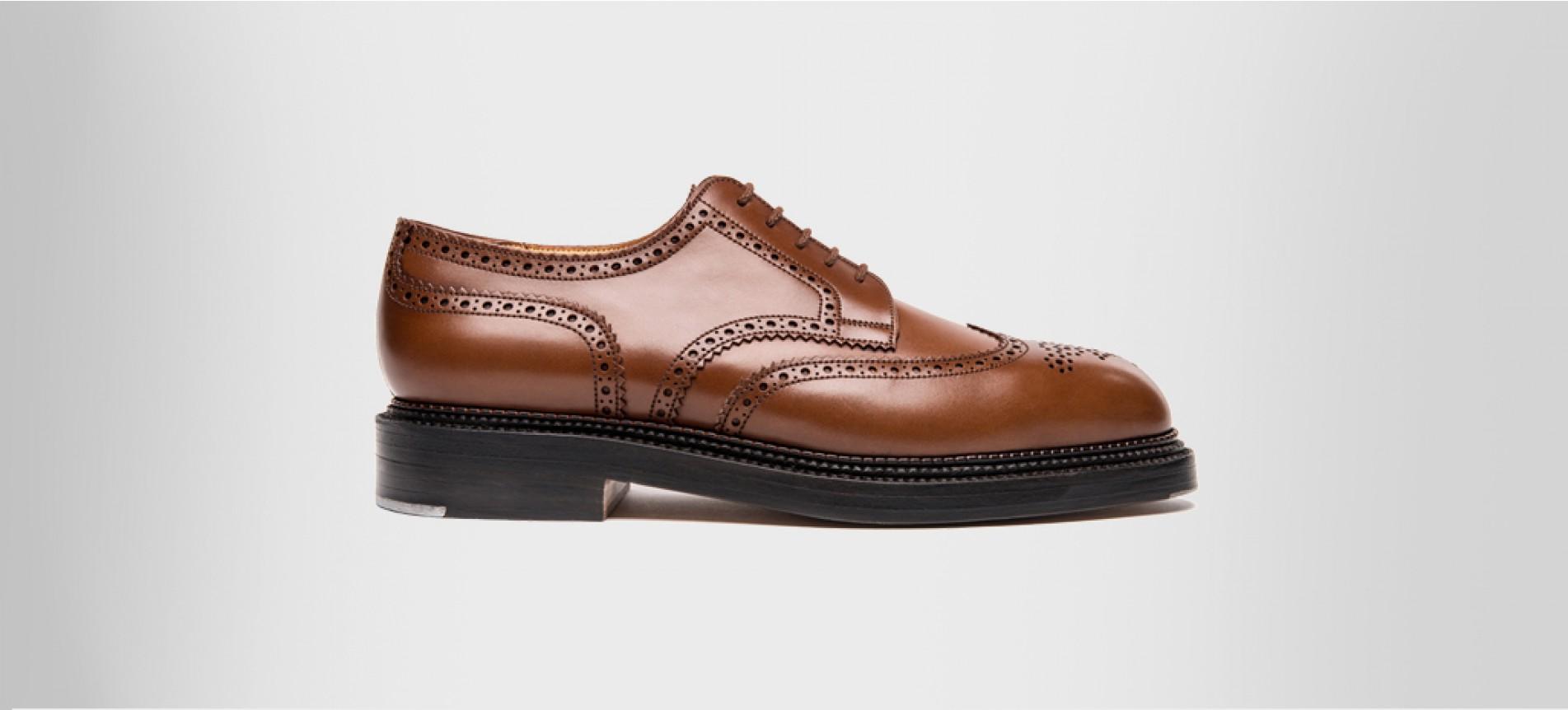 Triple sole derby Brown boxcalf