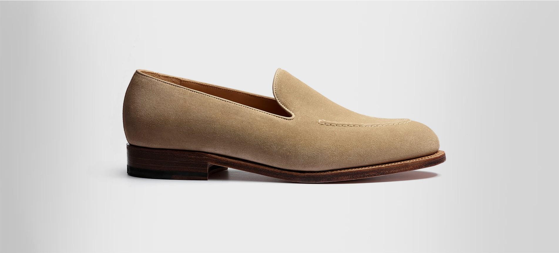 Menton loafer Beige suede calfskin