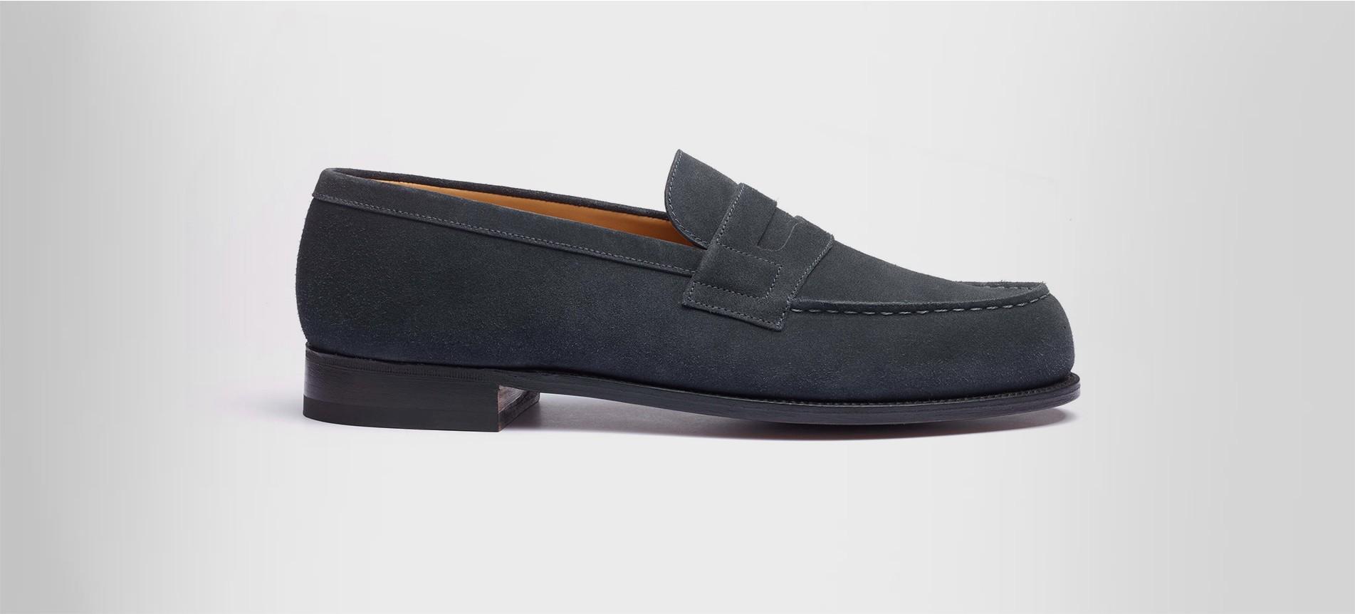 c371891f8c33f Mocassin 180 Grey suede calfskin - Loafers J.M. Weston