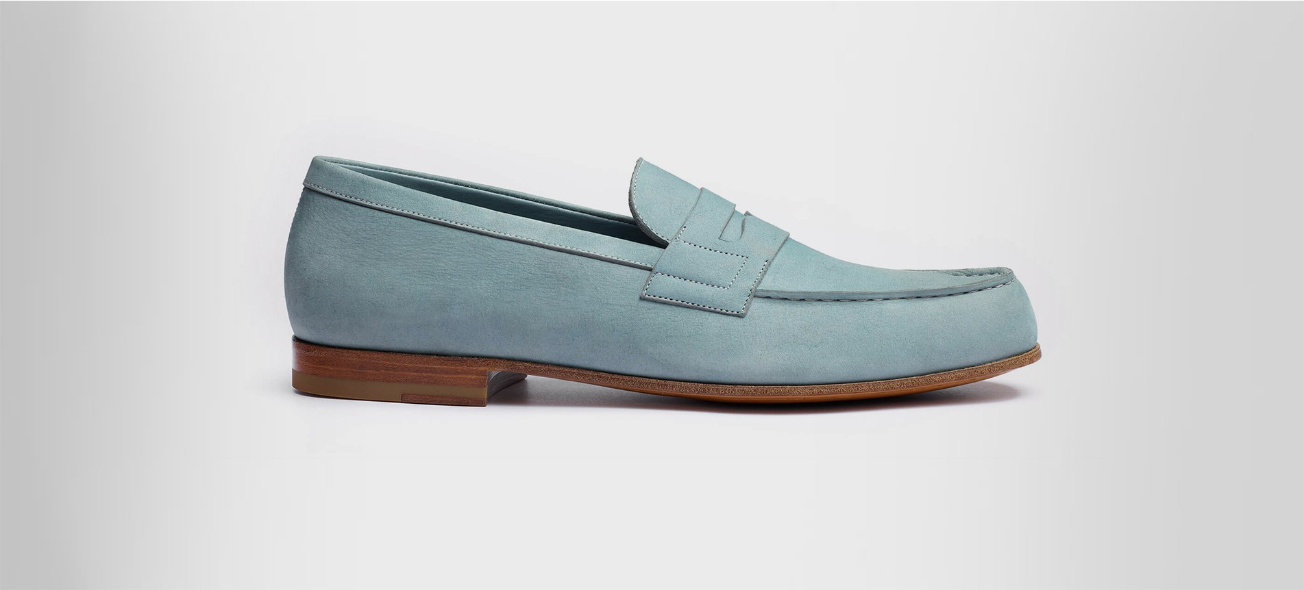 Le Moc' Light Blue Nubuck - Loafers J.M