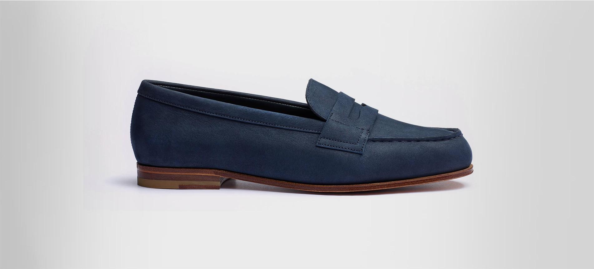 Le Moc' Navy blue nubuck - Loafers J.M