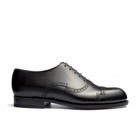 Raphaël Cap toe oxford shoe with perforations