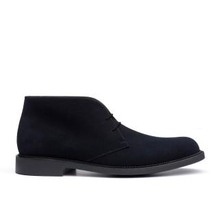 presenting buy best cheaper Chukka boot Navy blue suede calfskin - Bottines J.M. Weston